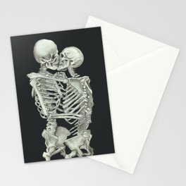 Valentine's Day Gift: Skeleton Kiss Stationery Cards