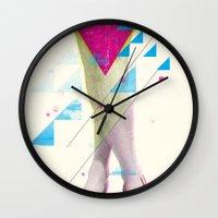legs Wall Clocks featuring Legs by Guilherme Rosa // Velvia