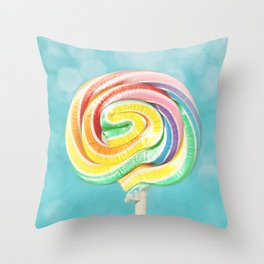 Lolly Love Throw Pillow