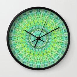 Green Geometric Mandala 0118 Wall Clock