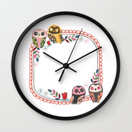 Owl-Red (You Are Owlsome) Wall Clock