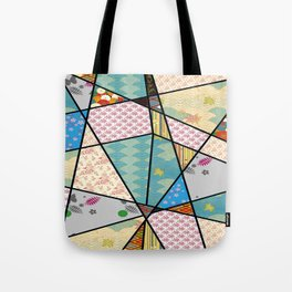 Mixed Pattern Perfect Square Tote Bag