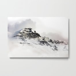 SNOWY - MOUNTAINS - PHOTOGRAPHY - WHITE Metal Print