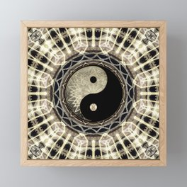 Yin Yang Geometry Mandala V1 Framed Mini Art Print