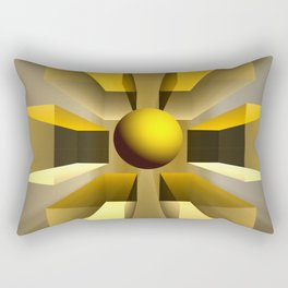 In a magical perspective, fractal abstract Rectangular Pillow