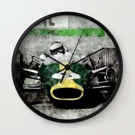 Jim Clark on Lotus Wall Clock