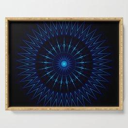 Blue Light Mandala Serving Tray