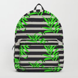 Beautiful seamless vector floral pattern background with tropical palm leaves Backpack