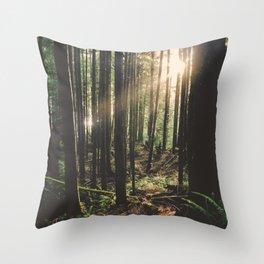 Sun in the Rainforest Throw Pillow