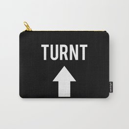 Turnt Up Arrow Black Print Carry-All Pouch