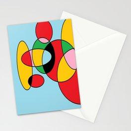 Circulos mult color Stationery Cards