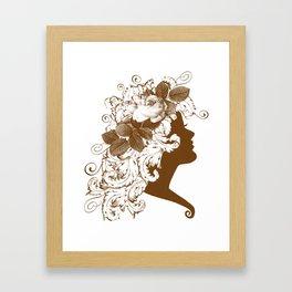 Acanthus Leaf w Rose Lady  Framed Art Print