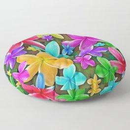 Plumerias Flowers Dream Floor Pillow