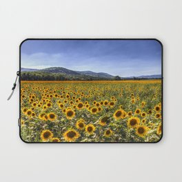 Sunflower Summer Field Laptop Sleeve