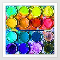 All About Color Paint Art Print