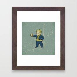 Vault Boy - fallout 4 Framed Art Print