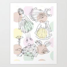 Victorian Paper Doll Art Print