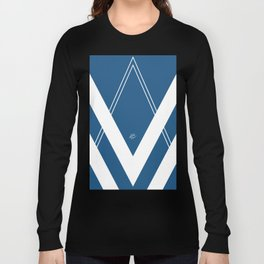 Blue V 2 #retro #society6 #abstract #artdeco #minimal #art #design #kirovair #buyart #decor #home Long Sleeve T-shirt