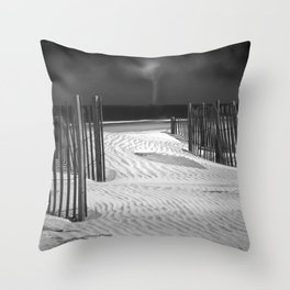 Storm on the Horizon Throw Pillow