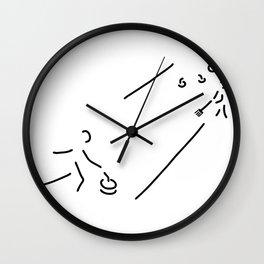 curling curling winter sports Wall Clock