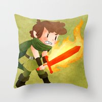 dungeons and dragons Throw Pillows featuring Dungeons, Dungeons, and More Dungeons by Sir-Snellby