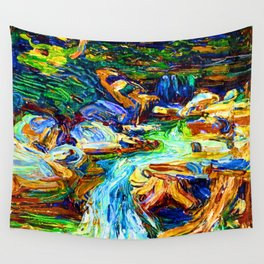 Wassily Kandinsky Waterfall Wall Tapestry