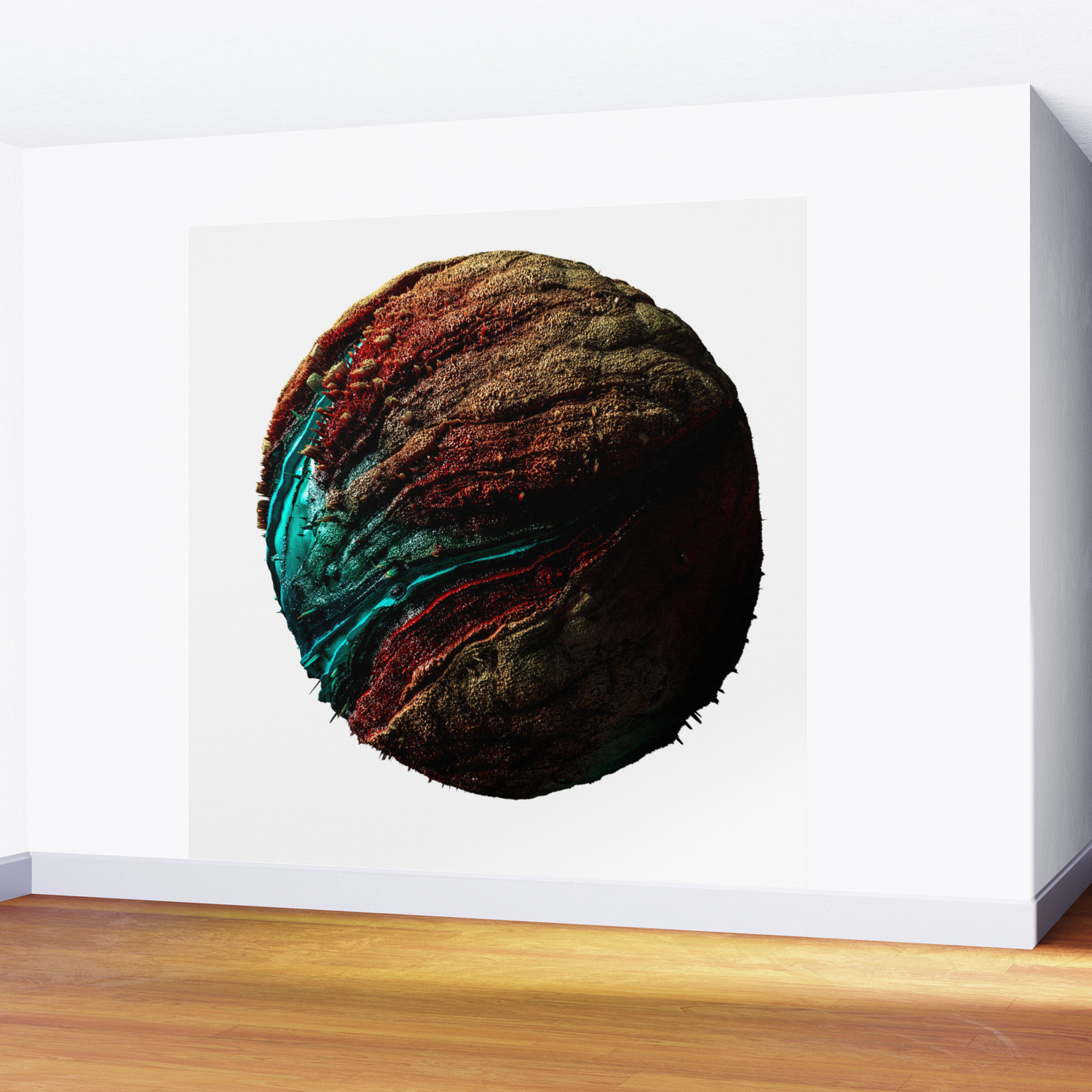 Abstract Planet Wall Art