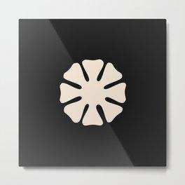 asterisk flower black Metal Print