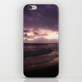 purple beach sunset, puerto vallarta iPhone Skin