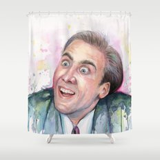 Nicolas Cage You Don't Say Geek Meme Nic Cage Shower Curtain