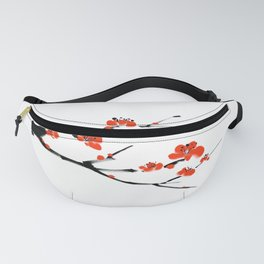 Asian style painting - Plum Blossom Fanny Pack