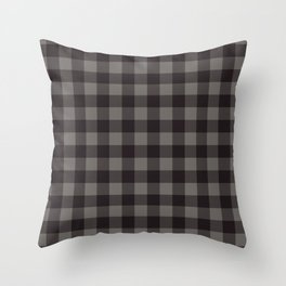 Buffalo Plaid Rustic Lumberjack Black And Gray Check Pattern Throw Pillow