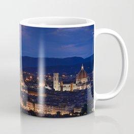 Panorama of Duomo Santa Maria Del Fiore, tower of Palazzo Vecchio. Coffee Mug