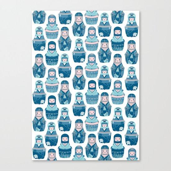 Matrioshkas Pattern Canvas Print