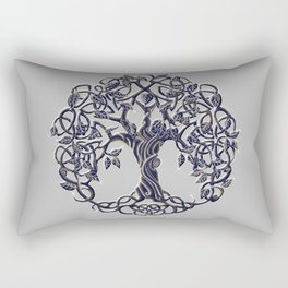 Tree of Life Silver Rectangular Pillow