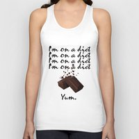 chocolate Tank Tops featuring Chocolate by Thomsky