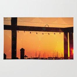 Yacht Basin Marina View Sunset Southport NC Rug