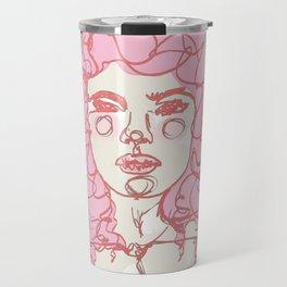 Pinky Pink Curls Travel Mug