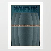 prometheus alternative poster Art Print