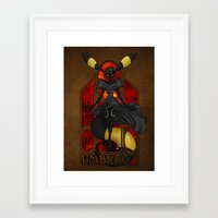 "umbreon Framed Art Prints featuring Rule 63: Umbreon by Barbora ""Mad Alice"" Urbankova"