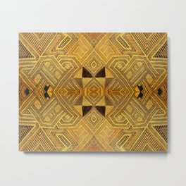 African BaKuba Metal Print