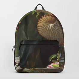 Still Life With Apple Blossoms In A Nautilus Shell 1870 By Martin Johnson Heade   Reproduction Backpack