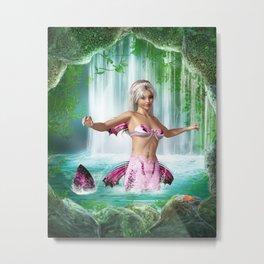 Pink Mermaid Metal Print