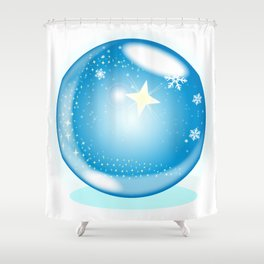 Christmas Star Globe Shower Curtain