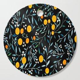 Oranges Black Cutting Board