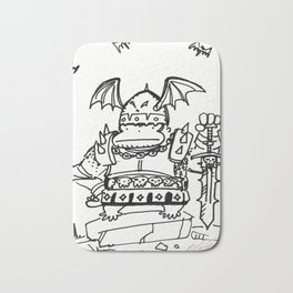 Fantasy Warlord Ape in Bat Wing Helmet Bath Mat