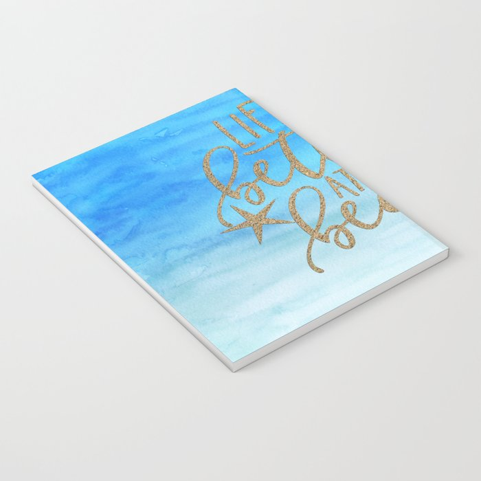 LIFE IS BETTER AT THE BEACH - Summer Ocean Sea Notebook