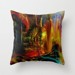 Lost Ship Stranded Throw Pillow
