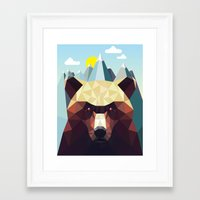 mountain Framed Art Prints featuring Bear Mountain  by Davies Babies