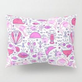 Sea pattern no 2 (pink) Pillow Sham